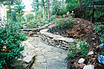 stone walkway and retaining wall